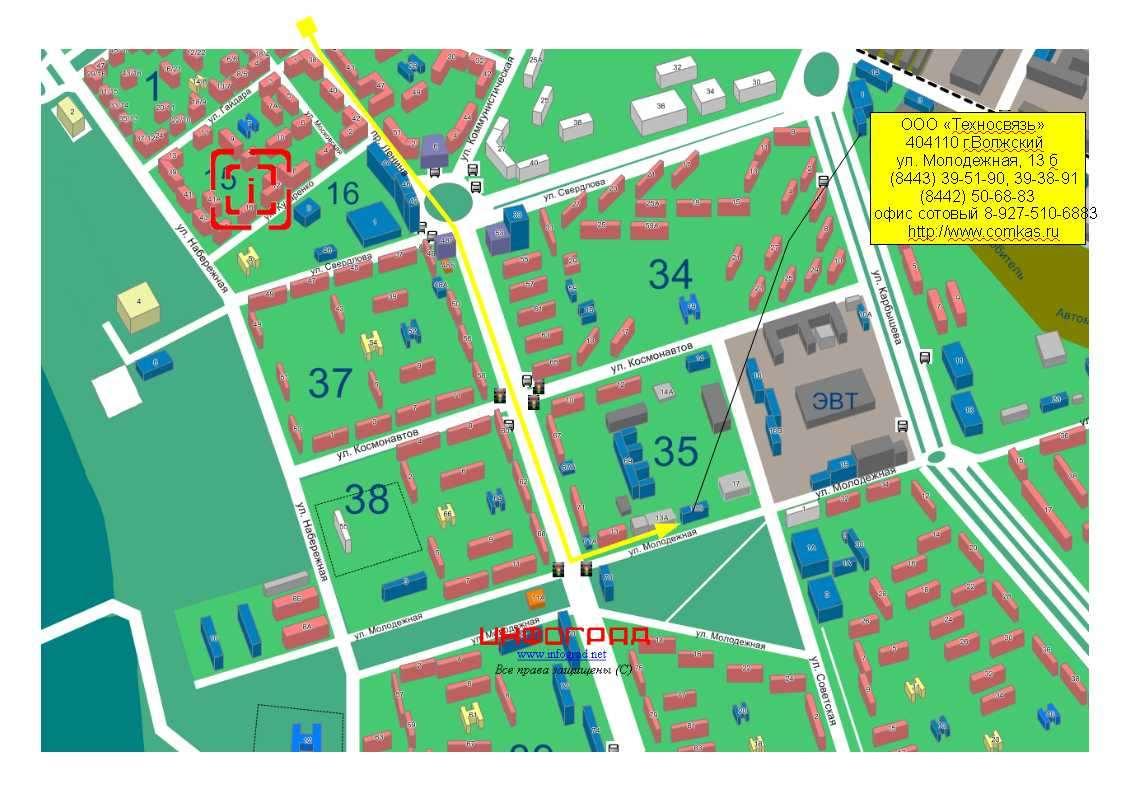 Карта города волжский картинки